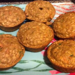 Oatmeal Carrot zucchini muffins