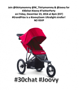 #30chat #Joovy #TwitterParty