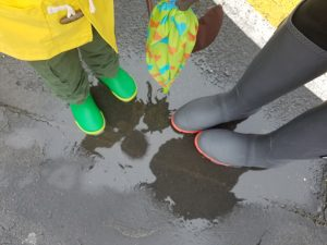 Spring Puddle Jumping in Kamik Rainboots
