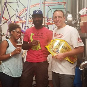 Coney Island Brewery & Joey Chestnut