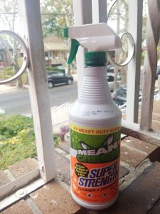 Cleaning Outdoors with Men Green Super Strength Cleaner